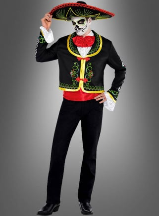 Day of the Dead Men Costume with Sombrero