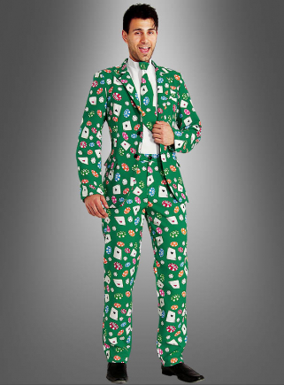 Casino Suit Black Jack Gambler