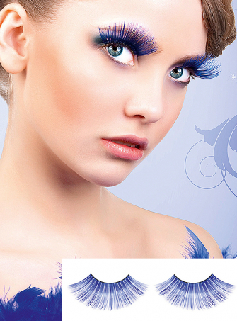 Blue Glamour Fake Eye Lashes