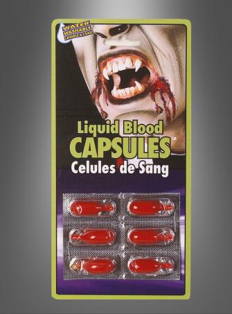 Blutkapseln Halloween Makeup