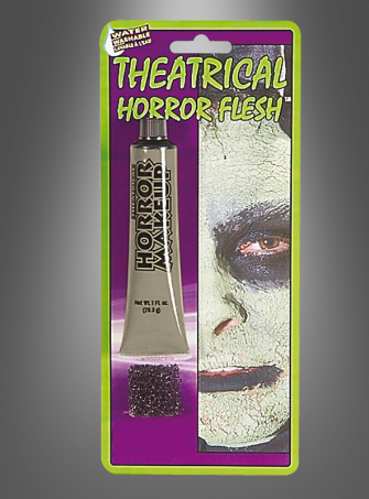 Horror Haut Makeup grau