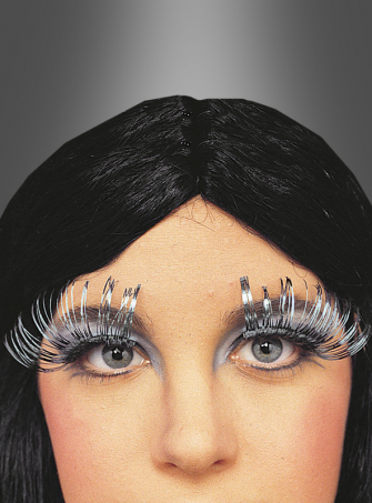 Drag Queen Travestie Wimpern metallic