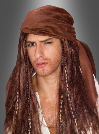 Caribbean Pirate Scarf and Wig