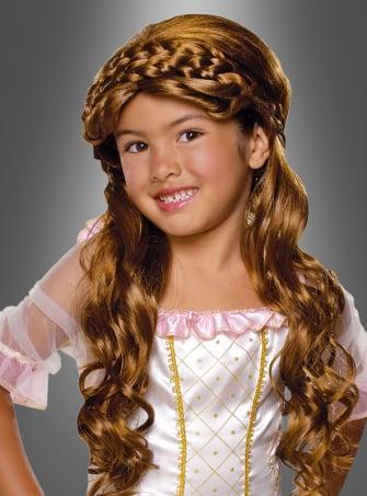 Prinzessin Perücke braun Mädchen