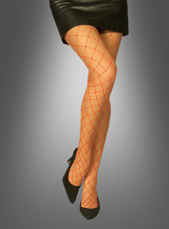 Red Hosiery Fishnet Thights