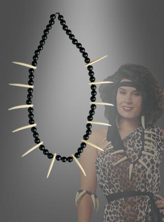 Halskette aus Zähnen für Ureinwohner Kostüm