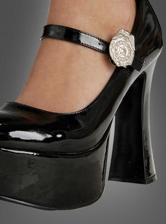 Schuhclips Polizistin Security Nachtwächterin