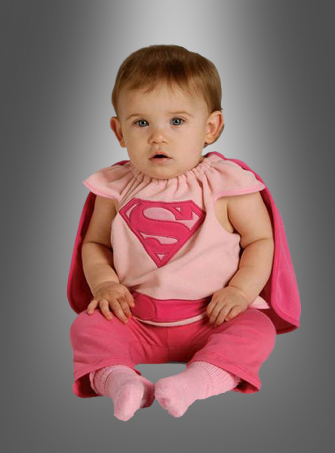 Supergirl rosa Baby-Kostüm