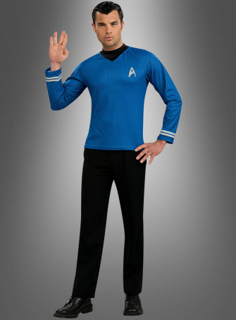 Star Trek Shirt Spock blau