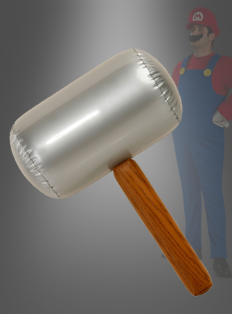 Inflatable mallet for Super Mario costume