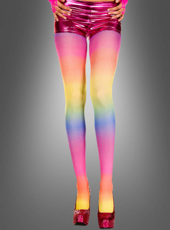 Multicolored tights pantyhose