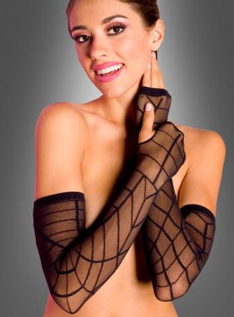 Exta long spiderweb gloves
