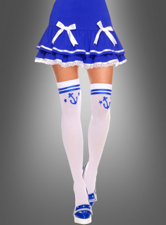 Sailor Girl Stockings white
