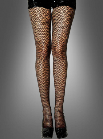 Elegant Black Tights with Pattern