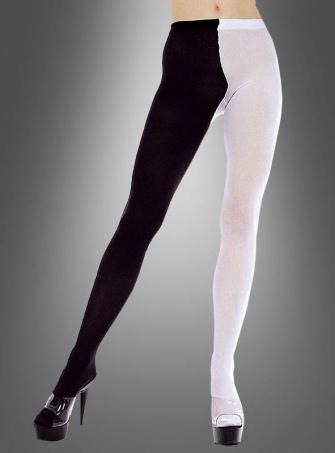 Strumpfhose schwarz-weiß