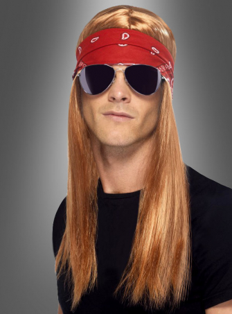 90s Rocker Kit Wig and Sunglasses