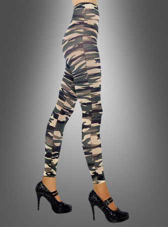 Footless Camouflage Tights