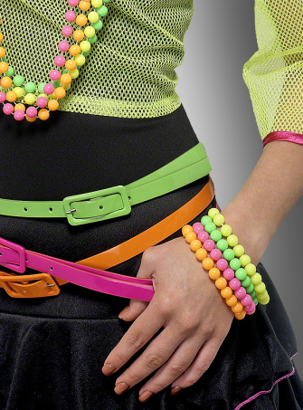 Neon beaded Bracelets 80s