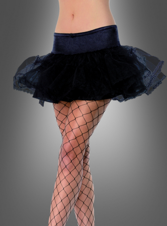 Petticoat schwarz mit Tüllspitze