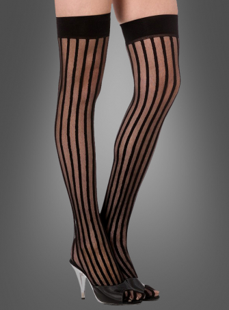 Thigh high stripes black