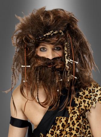 Caveman wig & beard set