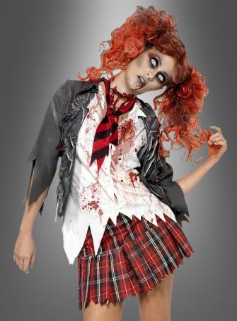 Zombie Schulmädchen Damenkostüm