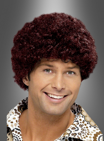 70s Disco Dude Wig brown
