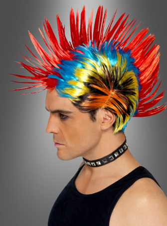 Multicolored Punk Wig