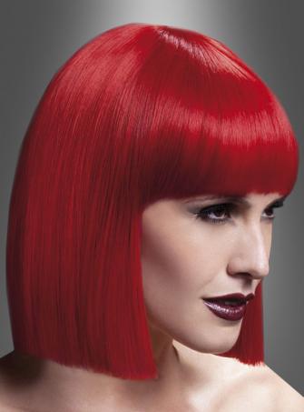 Lola Perücke Deluxe Pagenschnitt rot