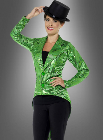 Green Sequin Tailcoat Jacket
