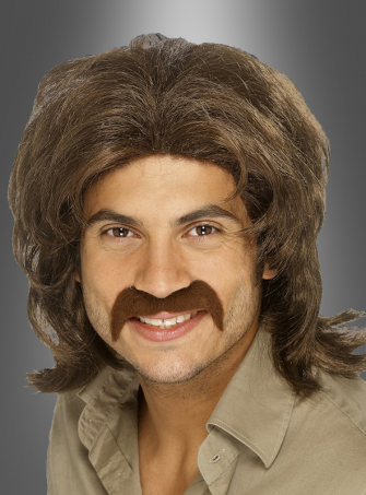 70´s guy wig brown