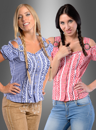 Bavarian Checked Blouse Emilia