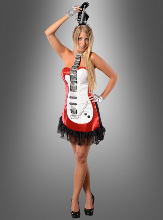 Hot Guitar Girl red Costume