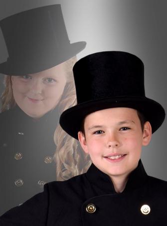 Schwarzer Zylinder Hut für Kinder