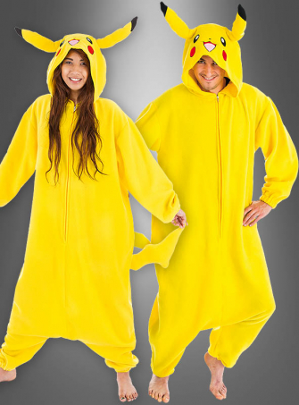 Yellow Pocket Monster Adult Costume