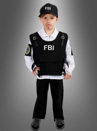 FBI Agent Children Costume