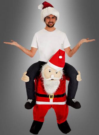 Piggyback Costume Santa Clause