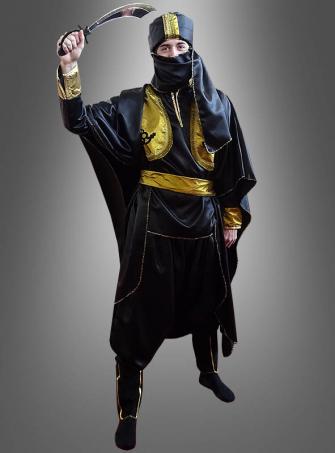 Tuareg Orientkostüm mit Mundbedeckung