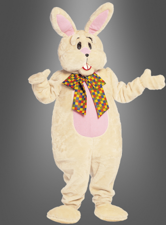 Plush bunny mascot costume