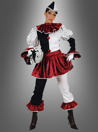 Pierot Clown Circus Costume