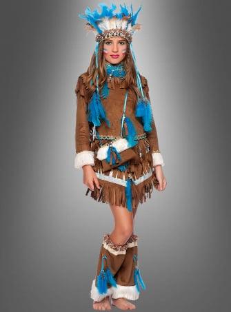 Indianer Kleid für Mädchen Deluxe
