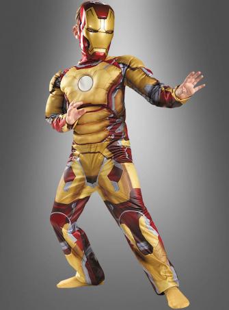 Iron Man 3 Muskelkostüm für Kinder