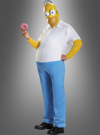 Homer Costume The Simpsons Deluxe