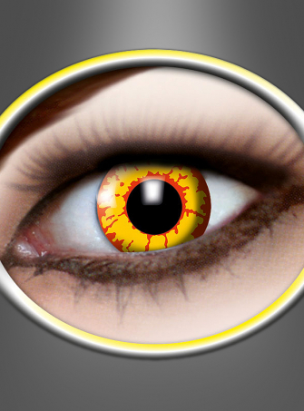 Contact Lenses Ork yellow-red