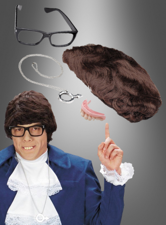 Original Austin Powers Kit Perücke Zähne