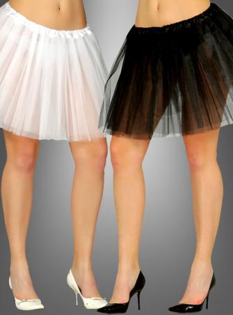 Tüllrock schwarz oder weiß