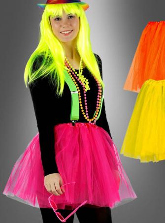Neon Tulle Skirt 80s