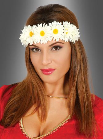 Haarband mit weißen Blüten
