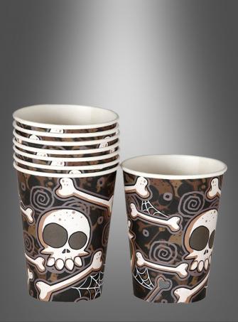8 Papercups Halloween with Bones