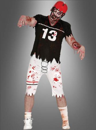 Zombie Footballspieler Halloweenkostüm
